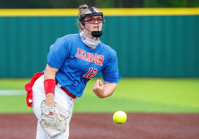 Leander senior Savannah Geurin, pitching against Seguin in April, is the focal point of a team that ranks No. 1 in the nation. Next spring she will be pitching for the University of Oklahoma.