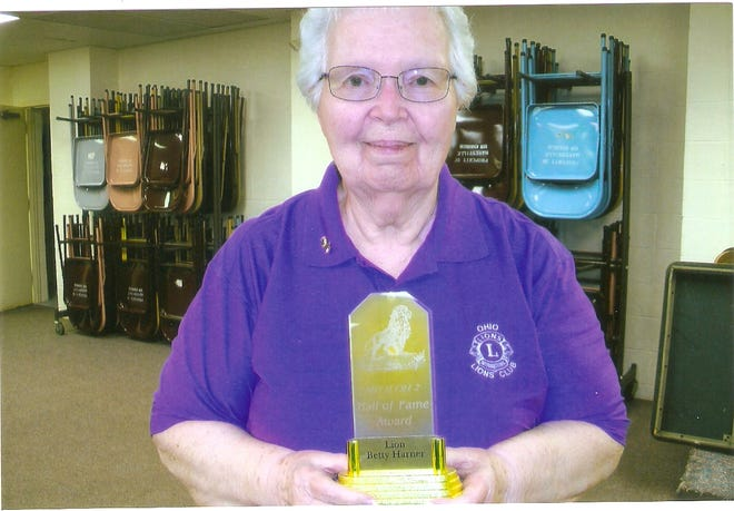 Betty Harner received a District Hall of Fame Award from the District Lions for her services and work that she has done in the District and in the Hayesville Lions Club  It was awarded at the Convention which she couldn't attend so she received it May 20.