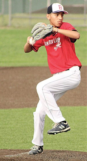 Christian Hernandez drew the opening game start for the Bartlesville United Linen Braves during American Legion (17-U) baseball action Monday against Nowata. Bartlesville swept the twinbill.