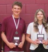 Weston Wolf was named Eighth Grade Fighting Cub, and Miranda Northcutt was named Eighth Grade Fighting Lady Cub.