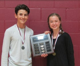 Jack Field and Madeleine Goff were named Eighth Grade Most Outstanding Students.