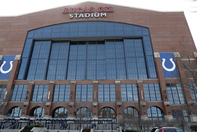 Lucas Oil Stadium, as seen in 2020, will host Big Ten football media days in July as the conference moves the event from Chicago to Indianapolis. Mandatory Credit: Brian Spurlock-USA TODAY Sports