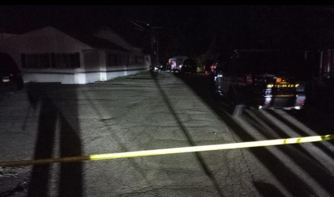 West Jefferson police, the Ohio Bureau of Criminal Investigation and the Madison County Sheriff's office were still on the scene late Monday night of a shooting several hours earlier that killed 'multiple victims' at an apartment house on a dead-end stretch of the 100 block of  Jackson Street.