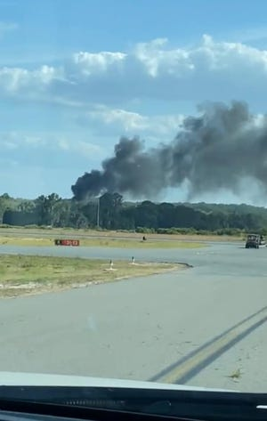 A helicopter crashed at Leesburg International Airport Tuesday evening.