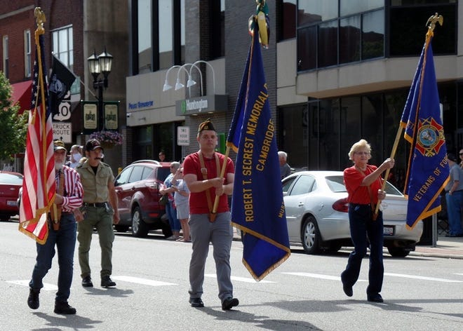 The Memorial Day parade will begin at 10 a.m. Monday, with the lineup starting at 9 a.m. in the Cambridge Municipal Court parking lot. Those interested in joining the parade should arrive early. The parade will start on Wheeling Avenue and Congressman Bill Johnson, an Air Force veteran, will join other Cambridge veterans walking in the parade. Judge Daniel Padden will be the keynote speaker on the Guernsey County Courthouse lawn at the conclusion of the parade. Following the parade and ceremony, the Cambridge VFW will provide lunch for the public at the post, located at 1427 E. Wheeling Ave.