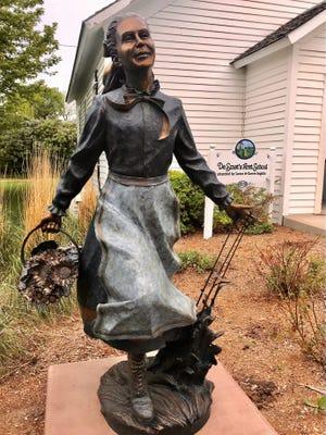 A statue of Laura Ingalls Wilder is located in De Smet, South Dakota.