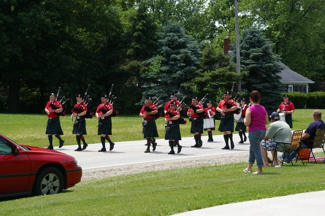 """The Blackhawk Pipes & Drums were featured in a previous Andover parade and will return to be part of Andover's 185th Anniversary+One Festival Grand Parade on Saturday, June 5. Parade marshal is Judy Olson, often referred to as """"Miss Andover."""" She was instrumental in helping raise funds for Andover's Aisle of Flags and the development of the Veterans' Memorial Park. She currently serves as treasurer for the Andover Tourism Council. The Festival continues on Sunday, June 6."""