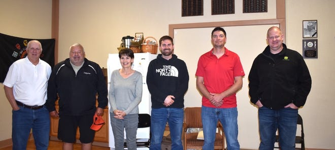 Orion village officials serving new terms are, from left, Village President Jim Cooper, Trustee Bob Mitton, Village Clerk Lori Sampson and Trustees Ryan Hancock, Neal Nelson and Mike Dunlap. In April, all were elected to four-year terms, except Dunlap, who was chosen to fill an unexpired two-year term