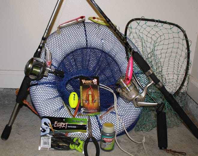 A sample of the gear that is needed to have a successful wade fishing trip.
