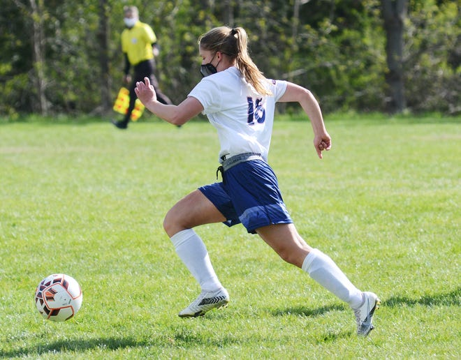 Taylor Noble scored for the Ramblers against Midland, though a tie and streak-ending night came for Boyne City.