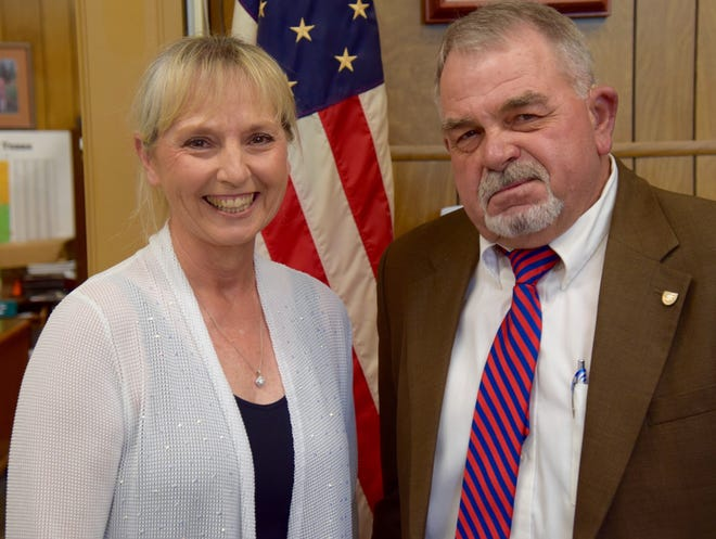 Runnels County Clerk Julia Miller was selected by the Commissioners Court to replace retiring County Judge Barry Hilliard.