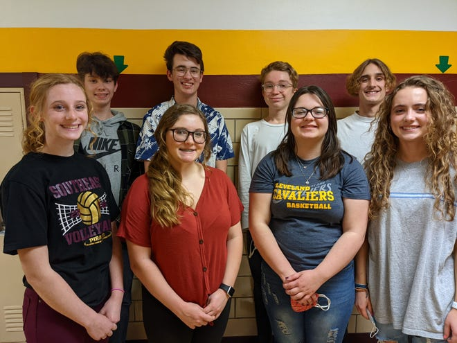 Southeast High School recently recognized Students of the Month for Leadership. From left are freshmen Logan West and Lexi Morris, sophomores Henry Harnar and Jade Whitely, juniors Zeke Robertson and Tori Seckman, and seniors Colton Booth and Emma Keto.
