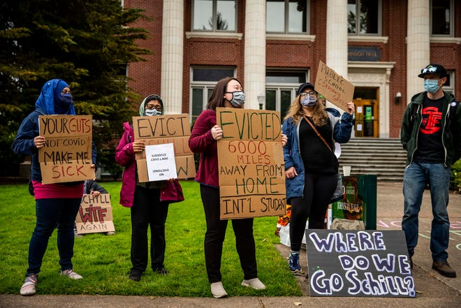 Students living in housing meant primarily for graduate students at the University of Oregon were notified through email that their leases are being terminated and they have until July 31 to vacate their current residence.