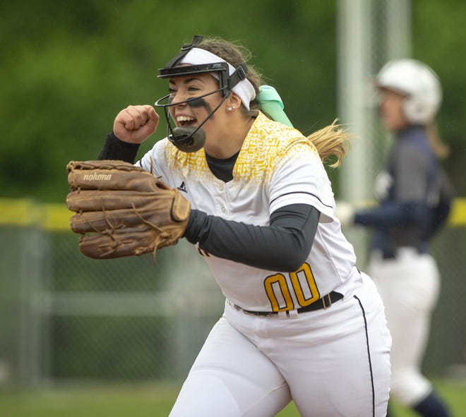 Mooresville grad and DePauw junior Cami Henry was named pitcher of the year in the North Coast Athletic Conference. (DePauw University courtesy photo)