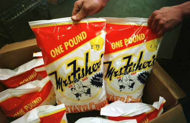 Mrs. Fisher's Potato Chips are made in Rockford.