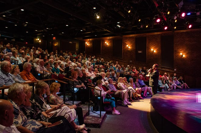 The audience at a performance at Florida Studio Theatre's Gompertz Theatre during the summer 2019 season. The company plans to welcome back full houses for the return of its summer 2021 season.