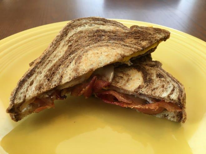 A breakfast sandwich from Grateful Coffee Co.