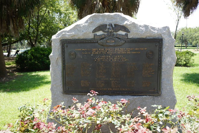 In 1929, the American Legion Post 36 and the Women's Federation of Savannah added a 14,200 pound granite monument with the names of the 135 soldiers which sits at the corner of Daffin Park at the corner of Victory Drive and Waters Avenue.