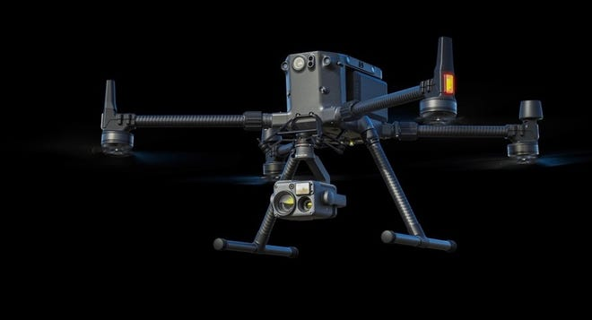 A model of one of the drones the Sheriff's Office will be receiving.