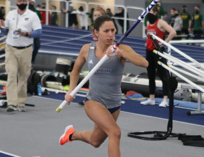 Washburn's Virgi Scardanzan posted a runner-up finish in the pole vault at the NCAA Division II Indoor Championships and will look to capture the outdoor title this week in Michigan.