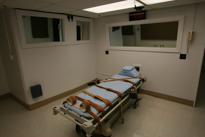 The execution chamber at Florida State Prison near Starke.