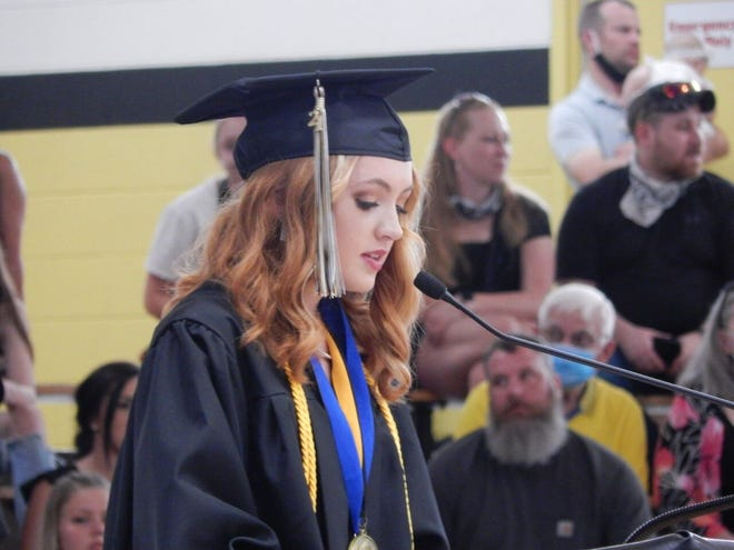 Mya Miller was named valedictorian of the Springs Valley Class of 2021. During her speech, she talked about how life is ever changing and wished her classmates good luck in their futures.