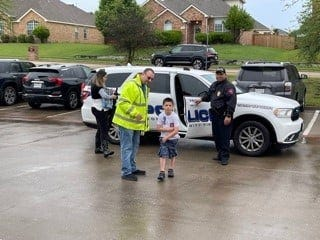 Chris Mercer had last day of school that he won't soon forget.  He got to ride with Van Alstyne Police officers thanks to his parents, Chris and Marianne Mercer. They submitted the winning bid for the ride-along in a silent auction hosted by the Van Alstyne Education Foundation.  This is the third year the depart has offered the prize.  Police Chief Tim Barnes says its something the department plans to continue.