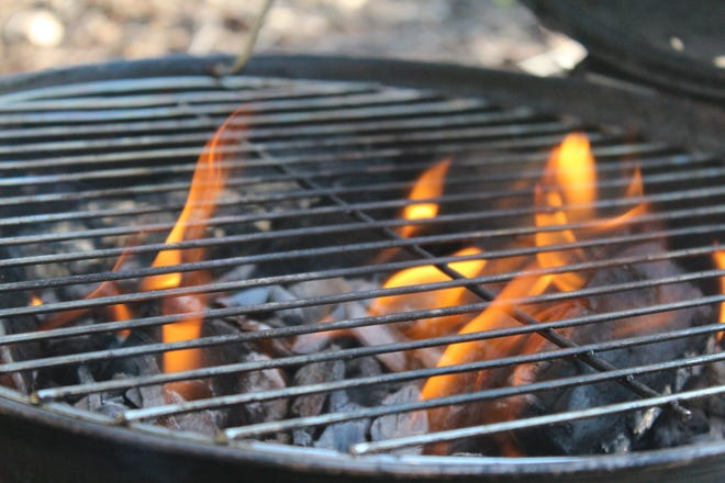 Create a circle of safety around your grill, keeping children and pets three feet away.
