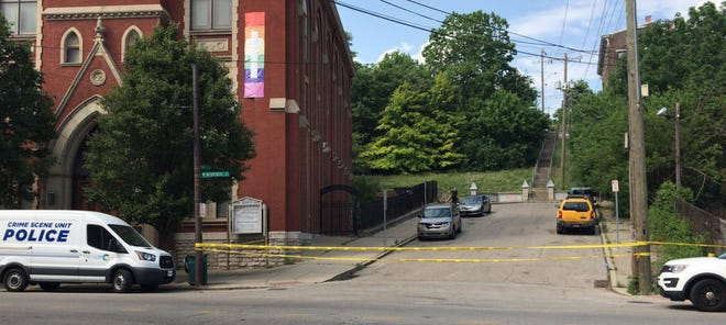 Cincinnati police are on the scene of a homicide at West McMicken and Ohio avenues May 25.