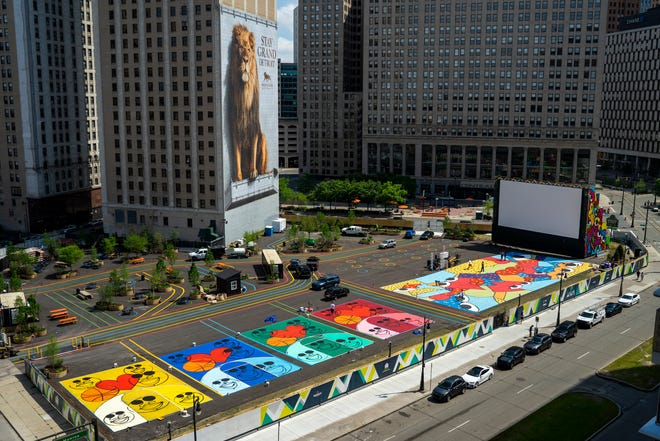 Murals are a prominent part of the Monroe Street Midway in downtown Detroit.