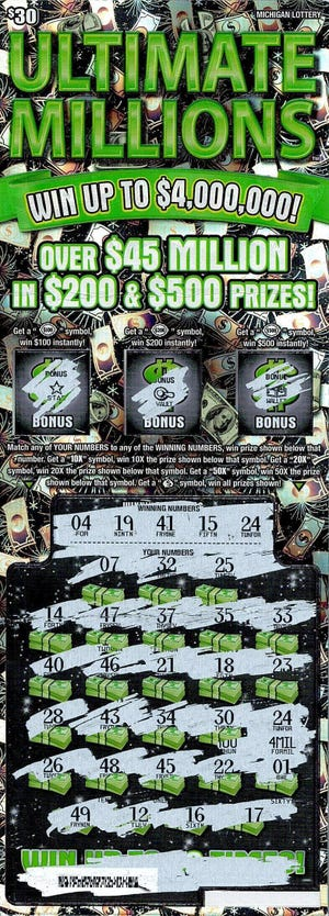 A Macomb County man recently won 4 million on a Michigan Lottery Ultimate Millions instant ticket.