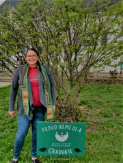 Jennifer Barnes (pictured), who is Menominee, graduated from UW-Green Bay with a master's degree in social work and proudly wore an Indigenous stole made by Menominee artist Carrie Chapman-Peters of Rezcreations.