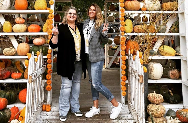 Kim Iwen, owner of Queen Bee Handmade Soap in Algoma, left, and Misty Nagan, owner of Silverwear by Misty in De Pere, are the creative minds behind the new Rusty Coop Vintage Barn Market planned for June 4 and 5 at Heritage Farm in Kewaunee.
