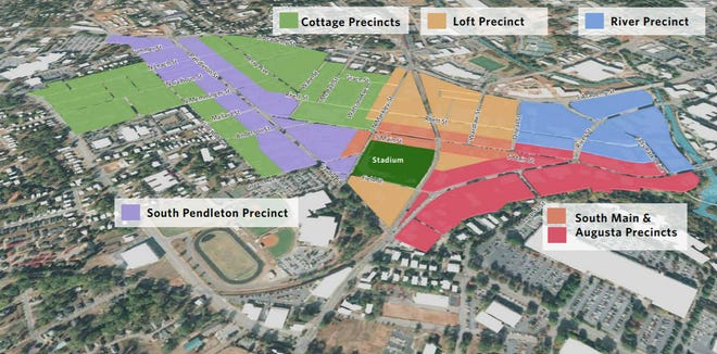 Proposed precinct breakouts in the West End area plan.