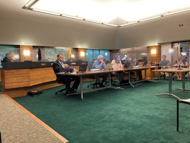 YouTube has removed videos for two Livingston County Board of Commissioners meetings for violating its community guidelines. Pictured, commissioners discuss the process for appointing candidates to local boards at a meeting in Howell, Monday, May 24, 2021.