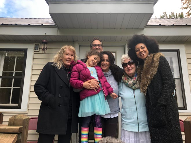 Brialle Ringer, far right, hosted a Living Room Conversation with members of her family to talk about differences in opinion regarding race in America.