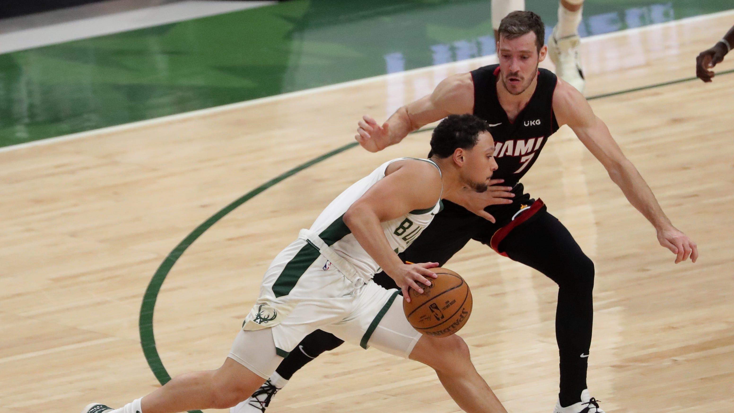 Bucks 132, Heat 98: Bryn Forbes leads Milwaukee in Game 2