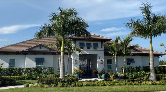 The heart of community social life is the Clubhouse at Sapphire Cove, a community of single-family homes by FL Star.