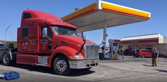 The United State Border Patrol reports 17 migrants were rescued from the cab of this tractor-trailer May 20, 2021 near Truth or Consequences.