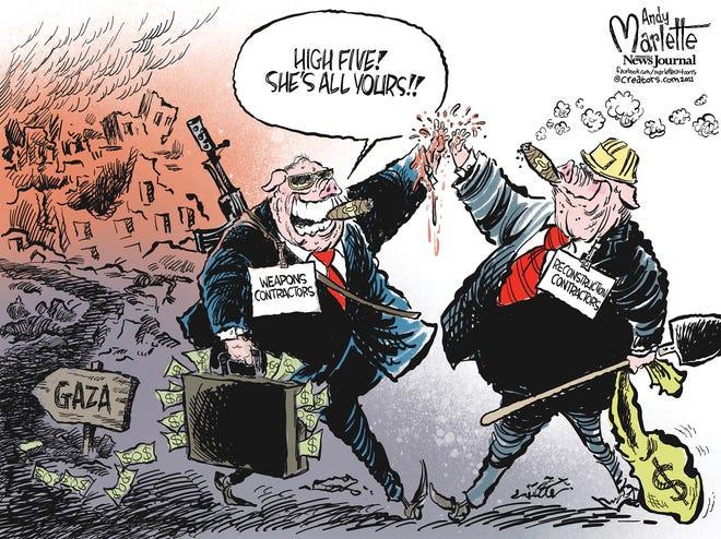 New cartoon: War pigs in Gaza