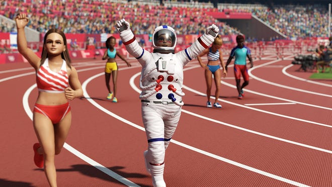 """Screenshots of the """"Olympic Games Tokyo 2020: The Official Video Game"""" by Sega."""