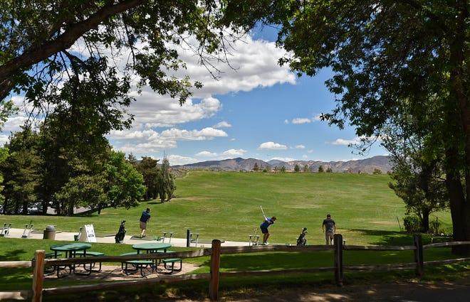 Lakeridge Golf Course driving range May 25, 2021
