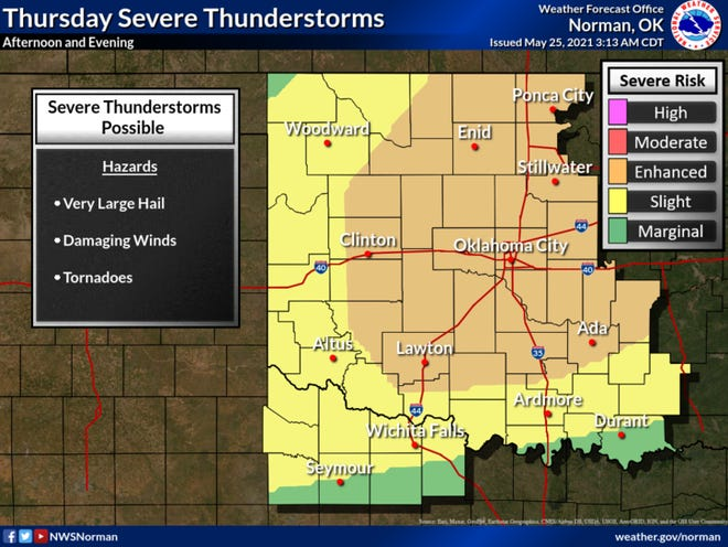 Severe storms may return to the region Thursday