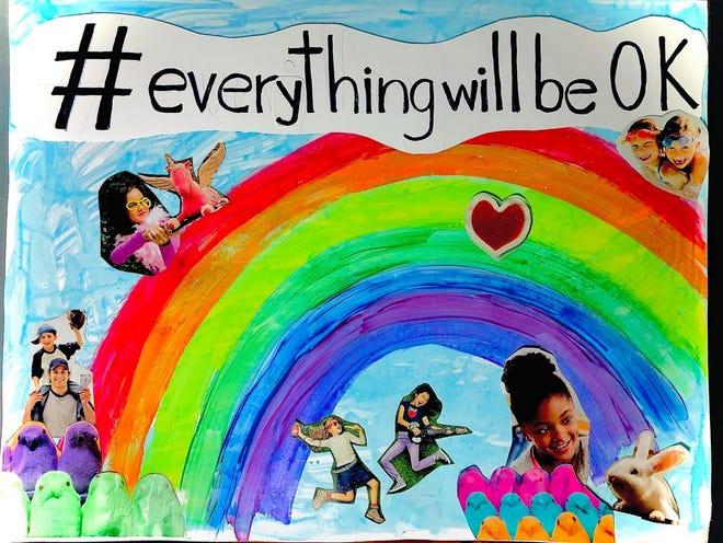 Create a poster using the #everythingwillbeOK hashtag.