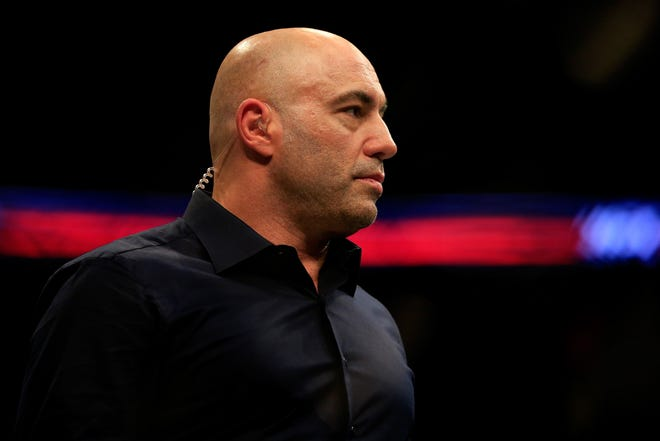 TV host Joe Rogan has a popular podcast he tapes from his studio in Austin. He recently had Mayor Steve Adler on as a guest.  (Alex Trautwig/Getty Images/TNS)