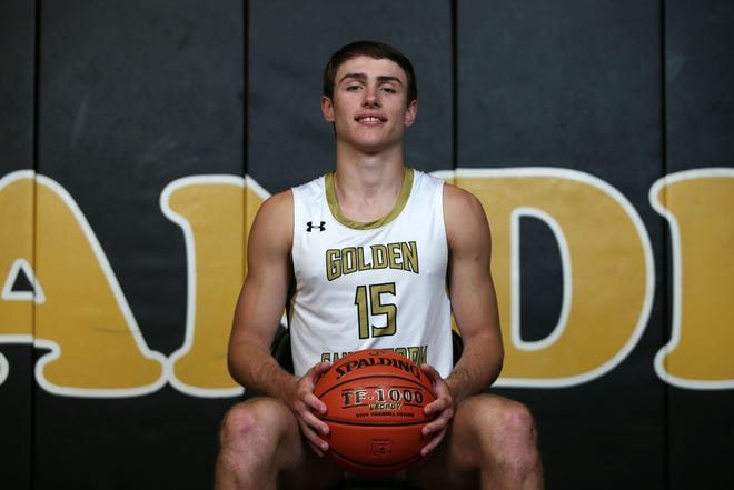 Amarillo High's Brendan Hausen was named the Amarillo Globe-News Player of the Year on May 25, 2021, at the Amarillo High School gymnasium. The junior shooting guard has garnered double-digit Division I offers.
