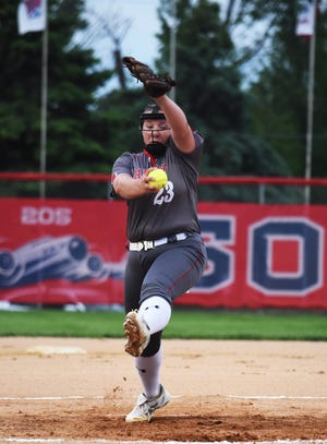 Junior Maggie McCrady is back pitching for the Ballard softball team after not competing in 2020. She provides needed experience for a young Bomber team that has won three straight after an 0-4 start.