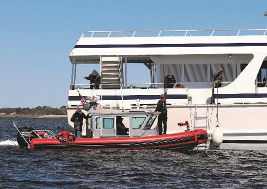 Crews trained at various speeds to approach and board a vessel.