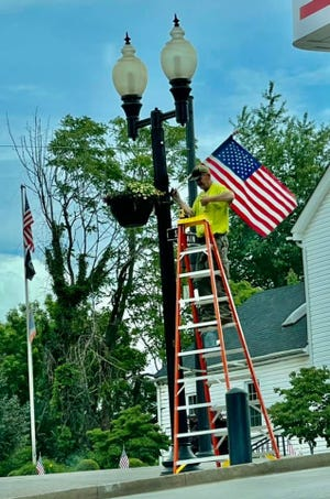 Beautiful American Flags are hanging in downtown Barnesville. The flags are purchased from the Irene Cowgill Flag Fund through the Barnesville Area Chamber of Commerce. Donations are always being accepted.