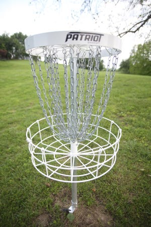 Nine DD Patriot baskets have been installed at each hole for players to master their craft around trees and creeks. The nine hole disc golf course is a par 27 course at 2,274 feet.